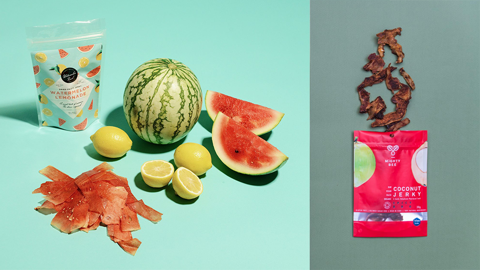 Watermelon jerky coconut