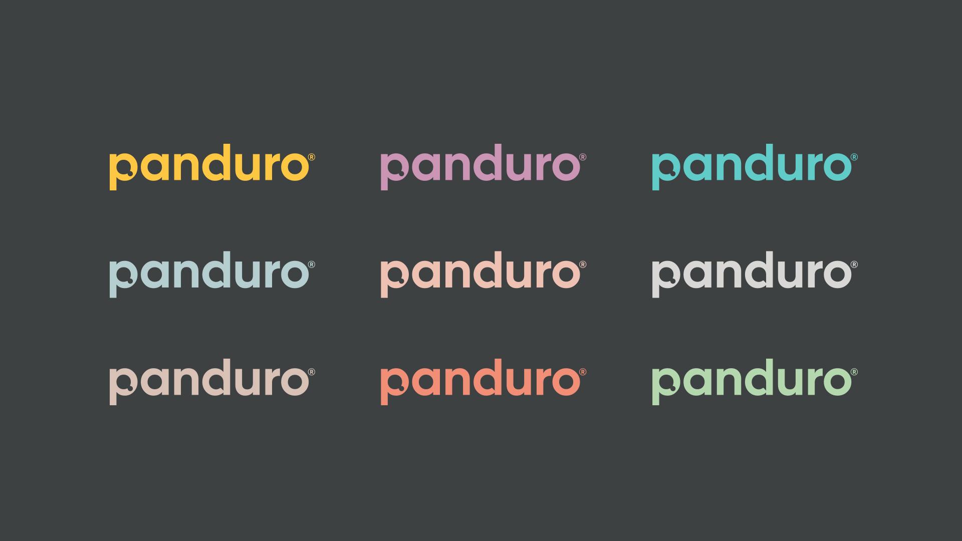Panduro logotyp olika färger