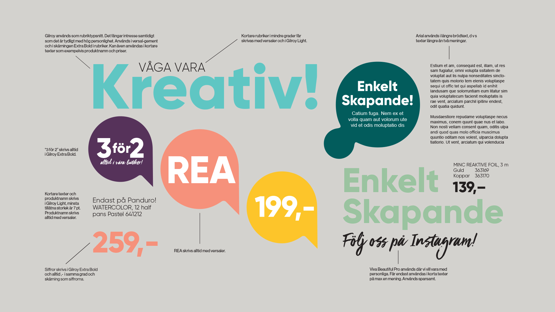 Panduro kreativ typografi