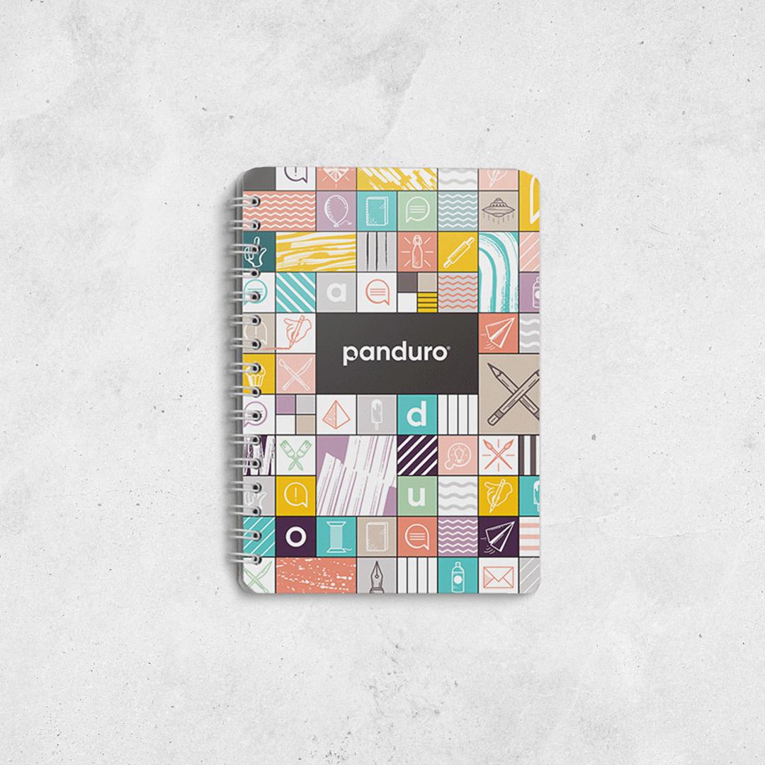 Panduro anteckningsblock med mönster