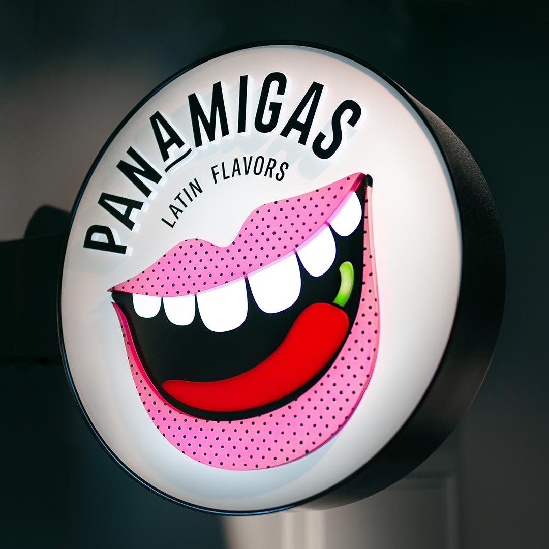 Panamigas Skylt